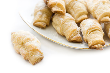 French croissants sugar powdered