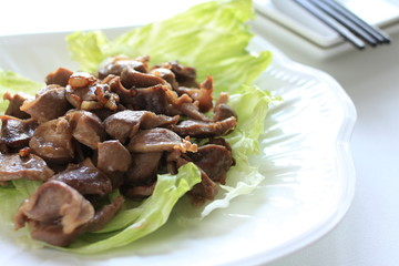 Chinese cuisine, Gizzard and garlic stir fried