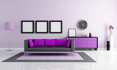 modern purple lounge