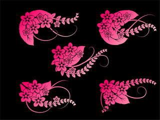 creative floral shapes