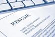 resume or cv job application