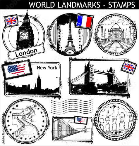 WORLD LANDMARKS - STAMPS