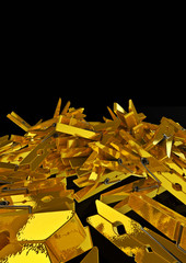 pile of golden clothes-pegs