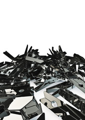 pile of silver clothes-pegs