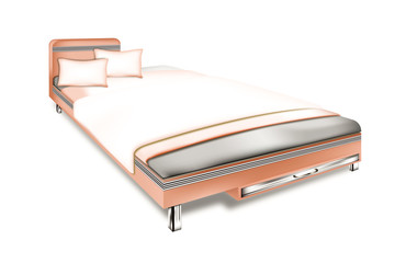 Softro bed on isolated