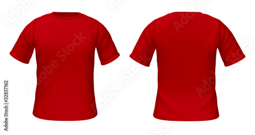 blank t-shirts template with red color