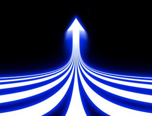 光線(矢印)
