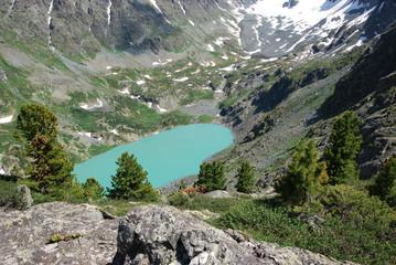 alpine lake,  Gorny Altai, Russia
