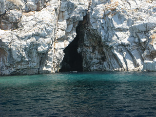 cave in aegean sea turkey
