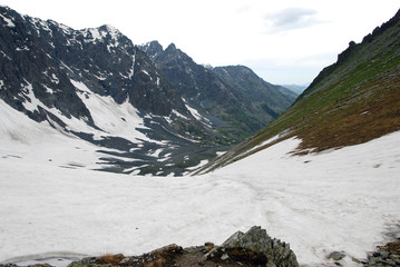 mountain pass,  Gorny Altai, Russia