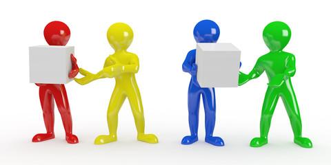 Conceptual image of teamwork. 3d