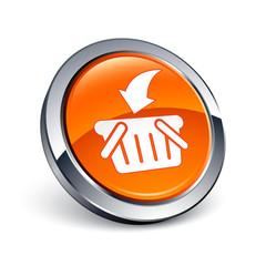 icône bouton internet panier