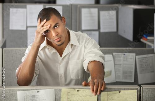 Overworked Male Office Worker