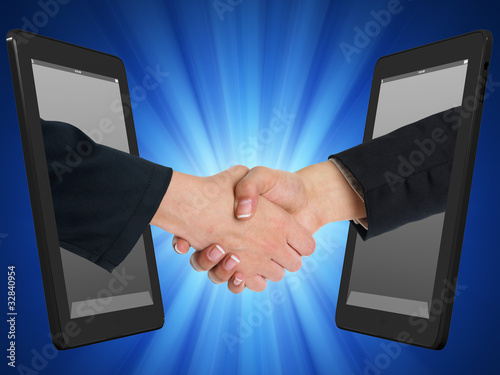 Wireless Internet Handshaking Concept with Tablet Computer