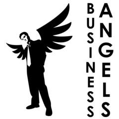 Business angels black & white