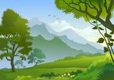 Fototapety Himalayan Hills And Beautiful Panorama