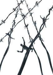 Human barbed wire