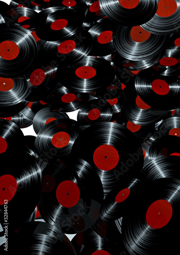 Lots of vinyl records