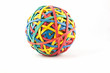 Rubber elastic band ball