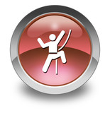 "Red Glossy Pictogram ""Rock Climbing"""