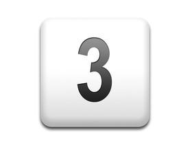 Boton cuadrado blanco numero 3