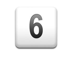 Boton cuadrado blanco numero 6