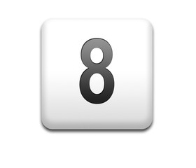 Boton cuadrado blanco numero 8