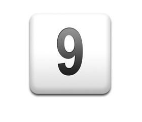 Boton cuadrado blanco numero 9