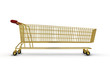 Extra large golden shopping trolley