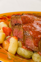 Steak with Gnocchi