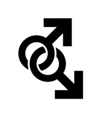 Intertwined Male Symbols