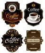 Four coffee design templates