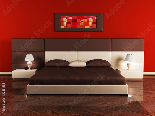 Modern  interior design of bedroom