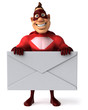 Superhéros et lettre