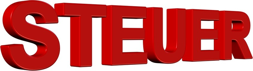 3D Wort rot STEUER