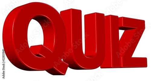3D Wort rot QUIZ