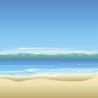 Tropical beach background illustration