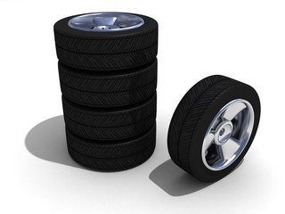 Wheels with steel rims