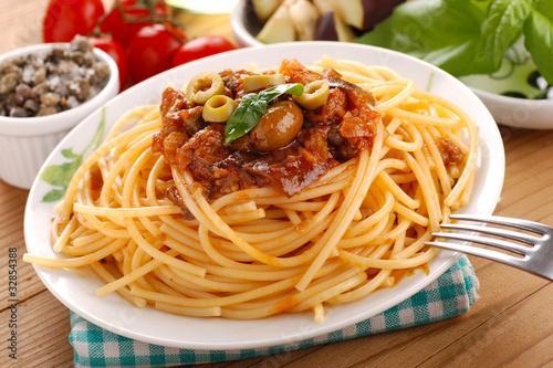 spaghetti alla caponata - due