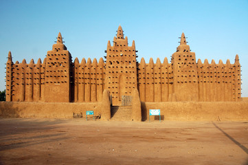 Front view of Djenne mud mosque