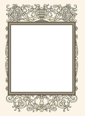 vintage photo frame ornamental vector