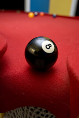 8 ball in the hole