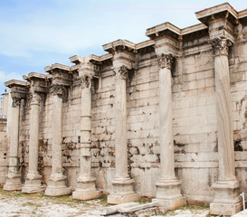 Hadrian's Library in the Roman Agora of Athens, Greece