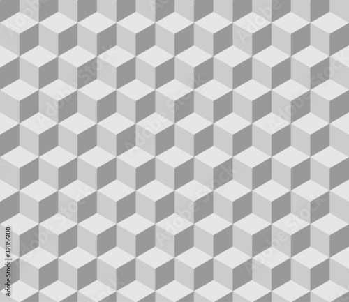 seamless tilable 3d isometric cube pattern