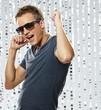 Leinwanddruck Bild - Stylish young man in the nightclub