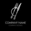 Company Logo Fork, Knife & Plate