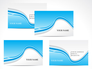 abstract blue based business card