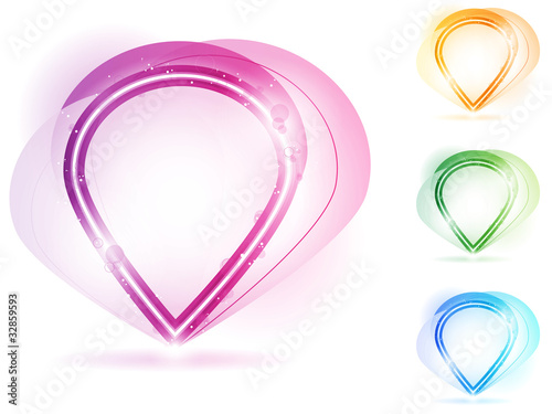Colorful Neon Bubble Frame