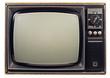 Leinwandbild Motiv Old vintage TV over a white background