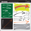 Arrows set (freehand painterly style - chalk, pen, calligraphic)